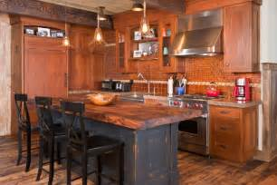 How To Make Rustic Cabinets 20 rustic kitchen island designs ideas design trends