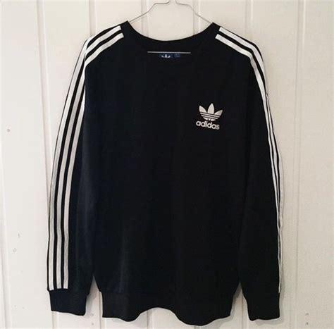 adidas sweater black and white sweater adidas stripes black white black and white