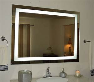 Top, Bathroom, Mirror, With, Lights, Built, In, Pattern