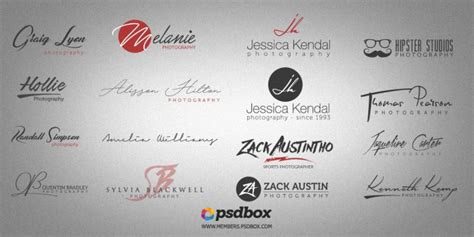 psd photography logos  pack  design resources