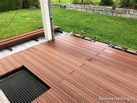 Wpc Terrasse Bilder by Wpc Dielen Unterbau Holzterrassen Ebenerdig Verlegen Wpc