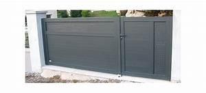 Tole Perforée Brico Depot : pin ce portail coulissant alu est dune dimension standard ~ Dailycaller-alerts.com Idées de Décoration
