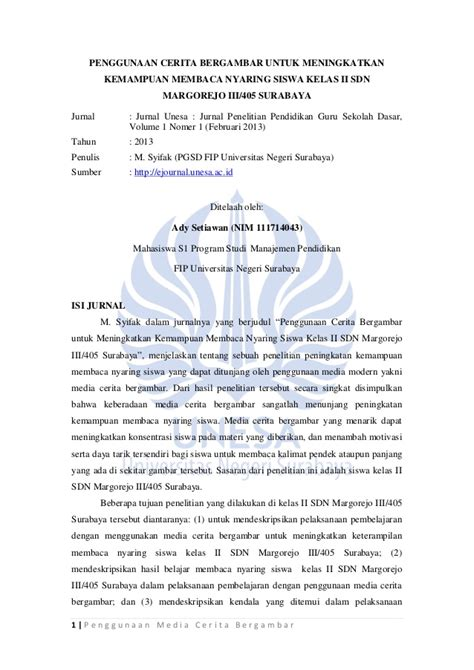 jurnal pendidikan penggunaan media bergambar