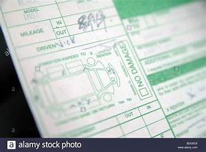 A Hire  Rental Car Agreement Form  Showing The Condition  Damage Stock Photo  25556393