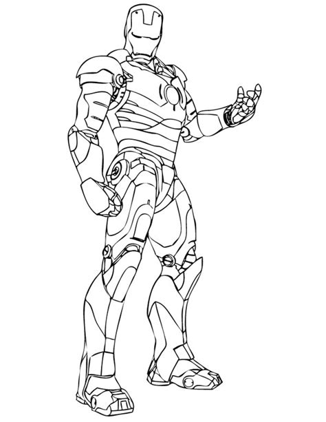 iron man  superheroes printable coloring pages