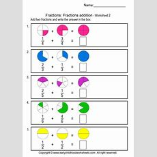 Fractions Addition  Worksheet # 2  Fractions  Addition Of Fractions, Addition Worksheets