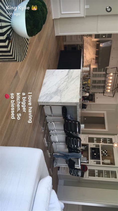 kylie jenner kitchen home celebrity houses interior house