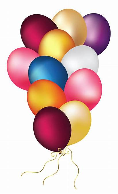 Balloons Transparent Clip Clipart Colorful Balloon Birthday