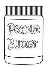 Coloring Pages Peanut Butter Clipart Jar Clip Peanuts Cliparts Library Insertion Codes sketch template