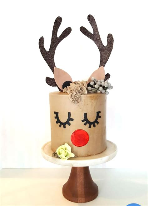 cake decorating workshop reindeer cake  dec