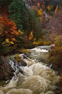 France Mountain Rivers Autumn Landscapes