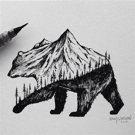 disegni  miniatura  ibridi tra animali  paesaggi