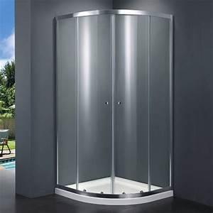 Cabine De Douche 80x80 : cabine de douche quart de cercle 80x80 cm 100x100 cm ~ Edinachiropracticcenter.com Idées de Décoration