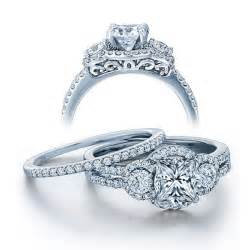 princess wedding rings certified 2 carat princess cut vintage wedding ring set in white gold jeenjewels