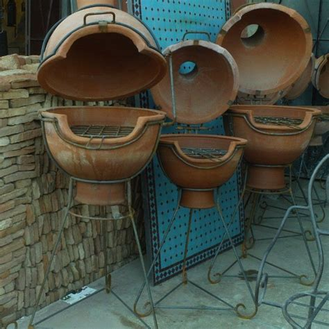 barbecue de jardin marocain en terre cuite de marrakech