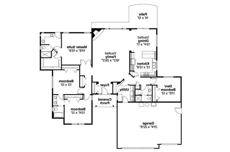 one level house plans ranch house plans rollins 30 330 associated designs
