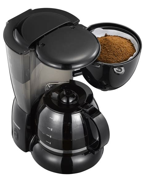 Café britt is a costa rican company that produces and markets gourmet coffee, chocolate and other products. Coffee maker, 1.25L, black, 750 watt - Adexi
