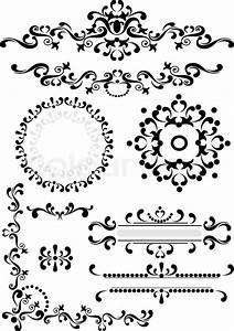 Black ornament corner,border,frame on a white background ...