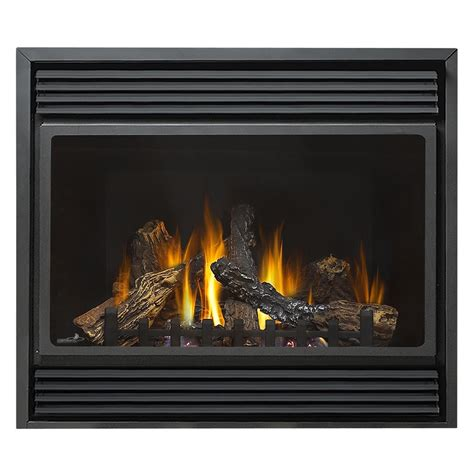 Fireplace Natural Gas by Shop 36 In Direct Vent Black Corner Natural Gas Fireplace