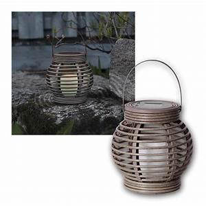 Laterne Kerze Draußen : solar laterne grau braun mit led kerze weidenoptik ~ Watch28wear.com Haus und Dekorationen