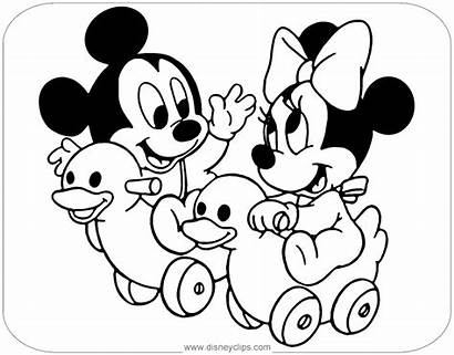 Minnie Mickey Coloring Pages Riding Disney Printable