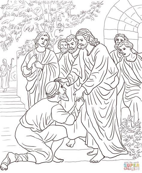 Ausmalbild Jesus Heilt Einen Ausstzigen Ausmalbilder