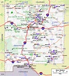 New Mexico Map and New Mexico Satellite Images