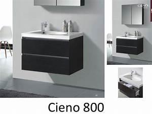 Armoire Salle De Bain Bois : meubles lave mains robinetteries meuble teck meuble de salle de bain suspendu de 80 cm ~ Melissatoandfro.com Idées de Décoration