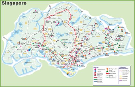 Large transport map of Singapore