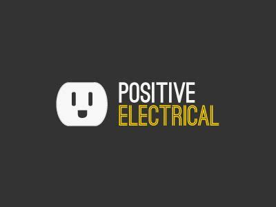 positive electrical  images business card logo