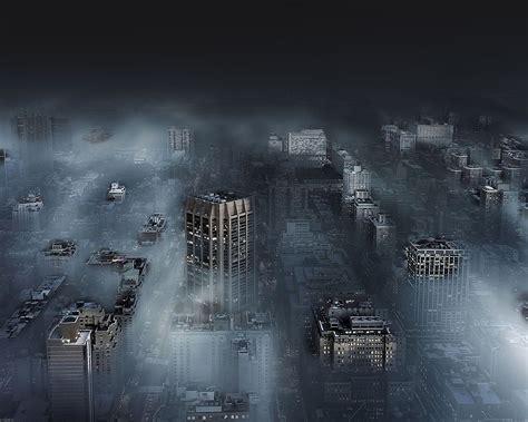 ma dark city  fog nature wallpaper