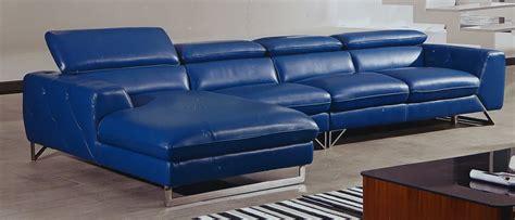blue italian leather sofa etoile italian full top grain blue leather modern