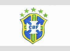 Comment dessiner le logo du Brésil pas à pas Équipe