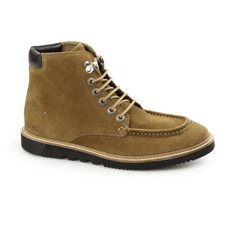 kickers moccasin suede kickers kwamie boot mens suede moccasin boot buy at