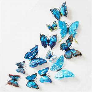12Pcs/Lot DIY 3D Butterfly Wall Stickers Home Decor for ...