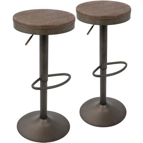 vintage counter stools lumisource dakota antique and brown adjustable barstool 3181