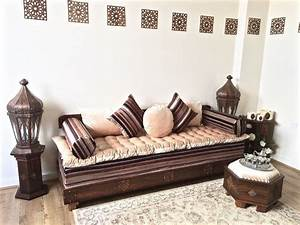 luxurious moroccan sofa bench daybed 3 seater couch With moroccan sofa bed