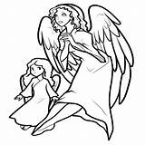 Coloring Angel Pages Printable Angels Christmas Wings Request Getcoloringpages Coloringme Coloringkidz Demon Keyword Thesunflowerpages sketch template