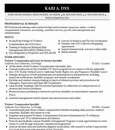 leave  absence specialist resume  xerox newark