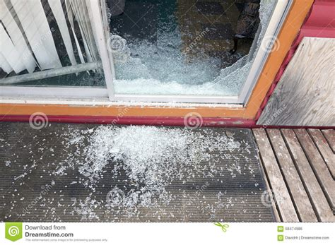 shattered glass sliding door stock photo image 58474986