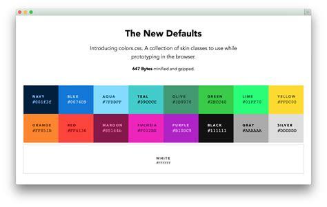 Colors — Default Web Palette Replacement Progville