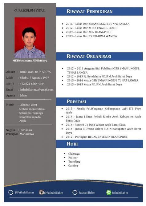 Contoh Cv Menarik by Contoh Cv Fresh Graduate Yang Menarik Cv