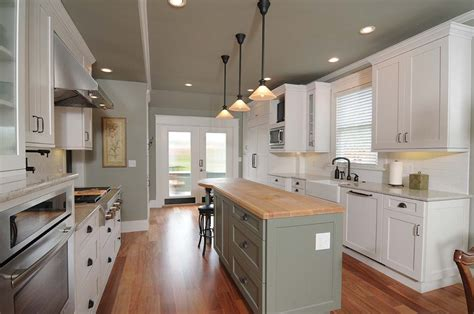 kitchen island different color than cabinets slideshow 25 award winning remodels south sound magazine 9399