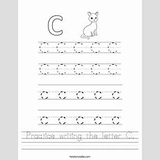 Practice Writing The Letter C Worksheet  Twisty Noodle