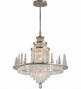 Corbett lighting illusion light chandelier in silver