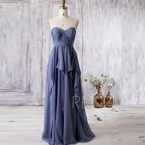 2016 Steel Blue Bridesmaid Dress, Strapless Wedding Dress ...