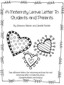 editable maternity leave letter beginning   year