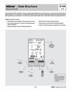 Tekmar 356 Mixing Control User Manual