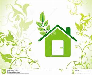 Abstract Eco Green Home Background Stock Photo - Image
