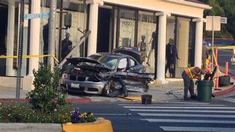 Hugo Sunset Plaza car crash at hugo on sunset plaza stops traffic on